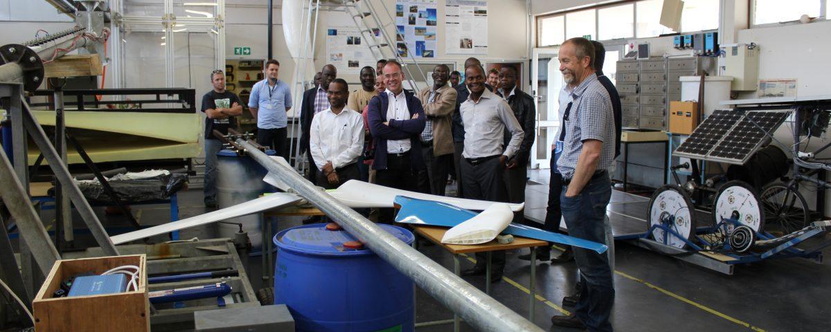 Visit to NMMU's Laboratories
