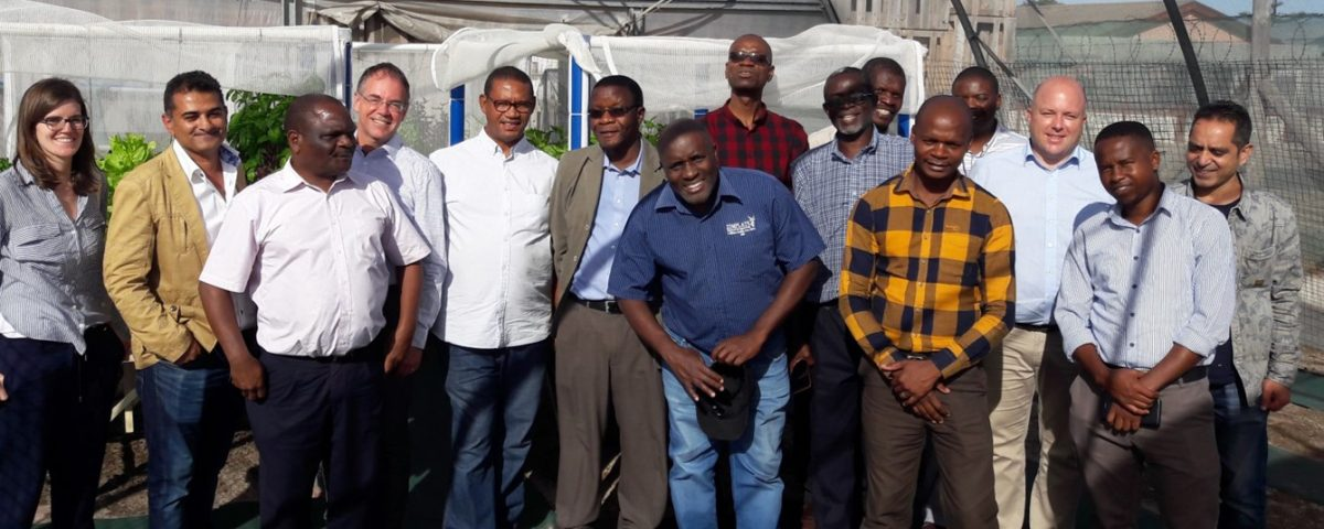 AIR Project team - site visit at the community project 'Hydroponics fish farming in a container project using solar energy' in Belhar, Cape Town