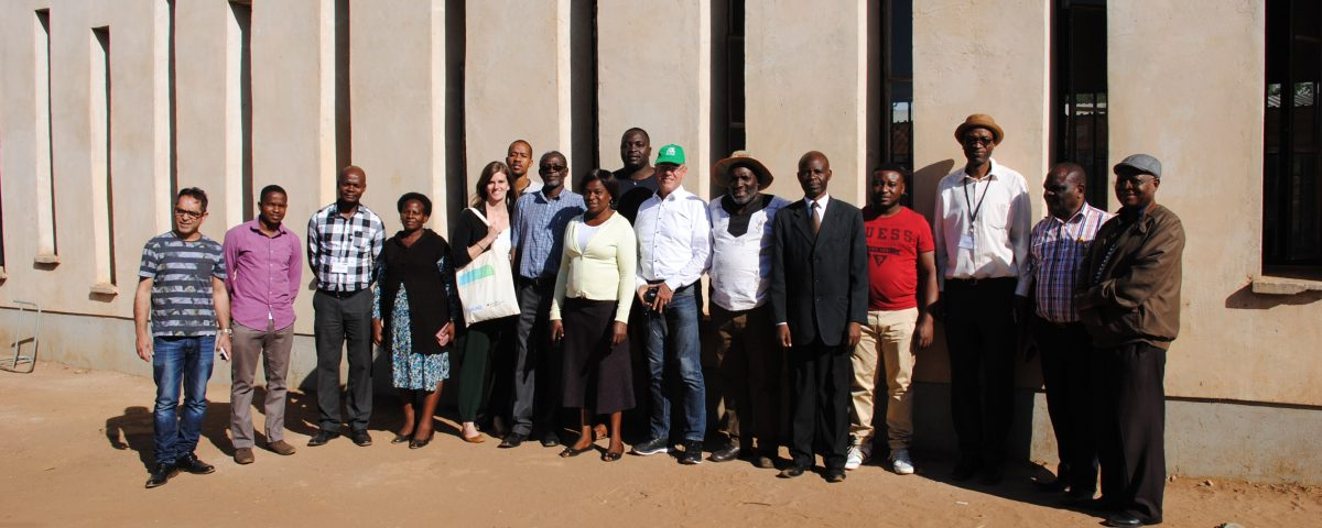The AIR Team during the visit at the 'Model Green School' in Woodlands, Lusaka.