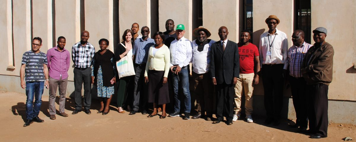 AIR Project team - site visit at the model green school in Woodlands, Lusaka