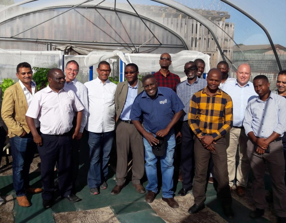 The AIR projet team at the community project in Belhar, Cape Town